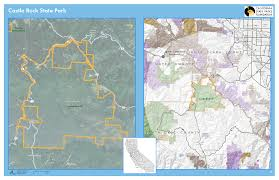 Castle Rock State Park Map by Calparks