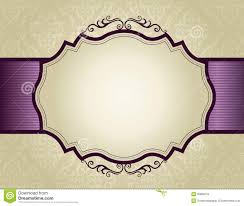 invitation background with ornamental border royalty free stock