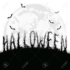 white and black halloween background halloween background with full moon bats and terrible trees