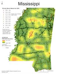 State Map Of Mississippi by National Geodetic Survey 2014 Gps On Bench Marks Campaign