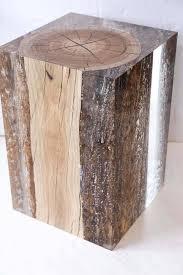 Wood Block Side Table Wood Block Side Table Stool Bar Stools