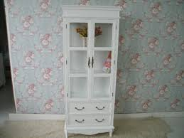 Tall White Bookcase With Doors by Furniture White Wooden Tall Bok Cabinet With Glass Door And
