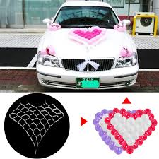 How To Decorate A Wedding Car With Flowers Compare Prices On Wedding Hearts Car Decoration Online Shopping