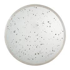 Narrow Wall Mirror Round Speckled Antique Wall Mirror