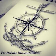image result for compass and anchor tattoo tattoos pinterest