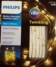 philips 30ct twinkling warm white battery operated dewdrop led