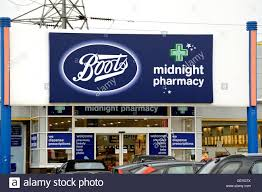 boots uk boots midnight pharmacy retail store on a uk retail park stock