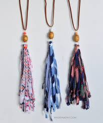 tassel necklace images How to make fabric tassel necklaces made in a day jpg