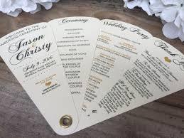 petal fan wedding programs heartfelt simplicity collection fan programs 4 petals without