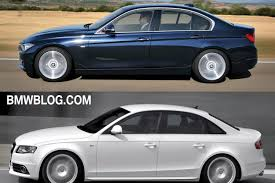 audi a4 comparison photo comparison audi a4 vs 2012 bmw 3 series