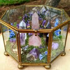 Wiccan Home Decor Crystal Terrarium Craft Ideas Pinterest Terraria Crystals