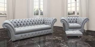 Grey Leather Chesterfield Sofa Buy Leather Suite Order Free Fabric Swatches Designersofas4u