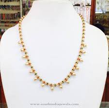 necklace designs making images Gold plated pearl mala from amithi indian jewelry gold and jpg