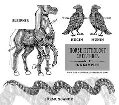 norse mythology creatures ink by red sinistra on deviantart