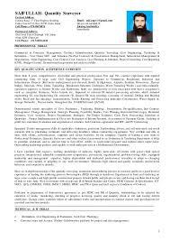 contract management quantity surveyor best resumes curiculum