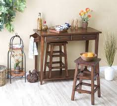 portable kitchen islands with stools kitchen furnishing decoration ideas using rustic solid brown