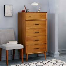 MidCentury Drawer Dresser Narrow West Elm - West elm mid century bedroom furniture