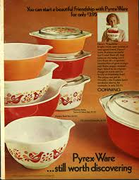 Corning Dishes Pyrex In The 1970s Behind The Glass