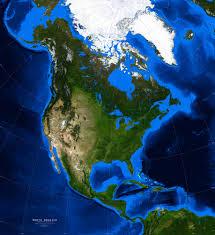 north america satellite image giclee print topography u0026 bathymetry