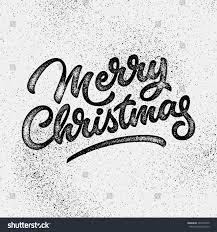 texture for logo merry christmas xmas badge handwritten lettering stock vector