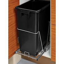 Pull Out Trash Can 15 Inch Cabinet Black 8 Gal Under The Cabinet Pull Out Trash Can The Container