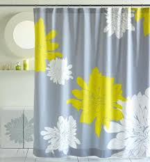 Yellow And White Shower Curtain Curtain Ideas Shower Curtains Yellow White Shower Curtain