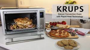 Cuisinart Deluxe Convection Toaster Oven Broiler Krups Ok710 Deluxe Convection Toaster Oven Youtube