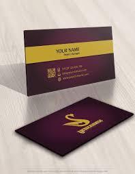 Crown Business Cards Exclusive Design Elegant Swan Crown Logo