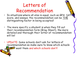 Guidance Counselor Brag Sheet Application Ppt