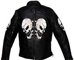 mens motorcycle leathers men u0027s motorcycle front back reflective skull leather jacket