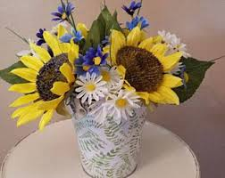 sunflower centerpiece sunflower centerpiece etsy