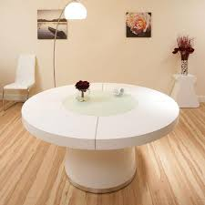 Round Expandable Dining Room Table by Docksta Table Ikea Throughout White Round Dining Table Design