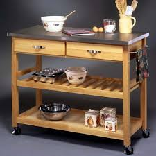 rolling kitchen island cart stainless steel top kitchen cart storage island rolling butcher