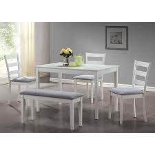 shop monarch specialties white dining set with rectangular dining