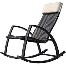 Patio Rocking Chairs Metal Grand Patio Weather Resistant Wicker Rocking Chair