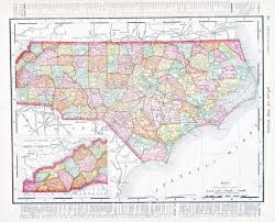 North Carolina State Map by Antique Map North Carolina Nc United States Usa U2014 Stock Photo