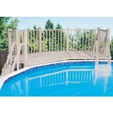 wood pool decks or resin pool deck kits