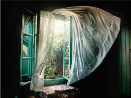 Open Those Curtains Wide Love The Look Of Open Windows And Breeze Blowing Through Sheer