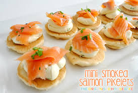 mini canape mini smoked salmon pikelets the organised