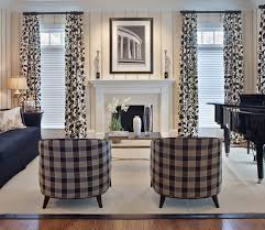 Top Curtains Inspiration Wonderful White Top Curtains Black And White Living Room
