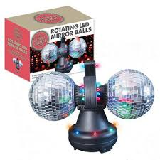 Rotating Disco Ball Light Buy Twin Rotating Led Mirror Disco Balls From Our Novelty