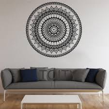 dining room decals mandala wall stickers indian round pattern symbol vinyl decal