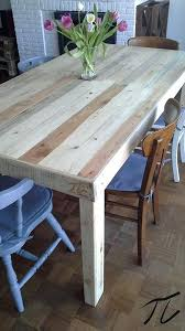 tables made out of pallets dining room table made from pallets tables en palettes pour pallet