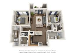 two bedroom floor plan provision at four corners