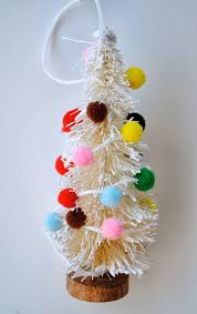mini bottle brush tree ornaments handmade ornament no 5
