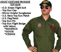 Aviator Halloween Costume Gun Costume Maverick Iceman Goose Choose Gun