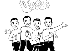 kidtoons loves the wiggles coloring sheets wiggles coloring page