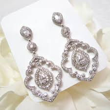 vintage wedding earrings chandeliers deco chandelier earrings cz bridal earrings chandelier