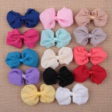 how to make baby headbands with flowers bowknot flower for baby headbands diy chiffon flower for hair