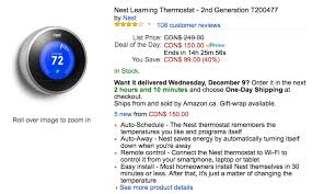 amazon black friday nest thermostat amazon one day sale 2nd gen nest thermostat for 40 off at 150
